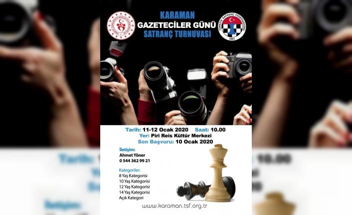 Gazeteciler Günü Satranç Turnuvası Düzenlenecek