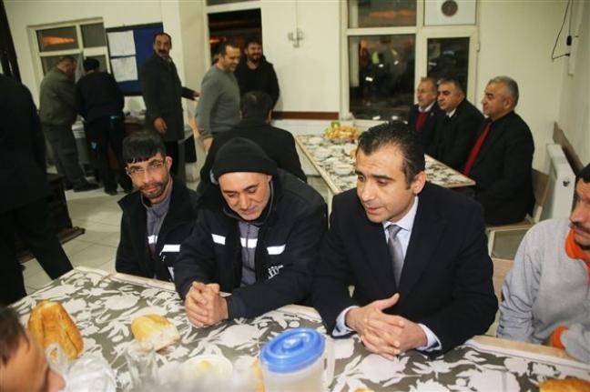Başkan Kalaycı Şantiyede İşçileri Ziyaret Etti