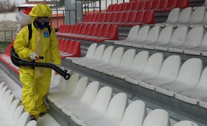 Karaman Gençlik Ve Spor İl Müdürlüğü'nde Dezenfekte Çalışmaları Devam Ediyor