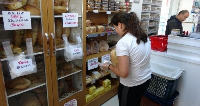 Karaman'da Ekmek Satışına Korona Virüs Önlemi