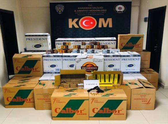 Karaman'da Kaçakçılık Operasyonu
