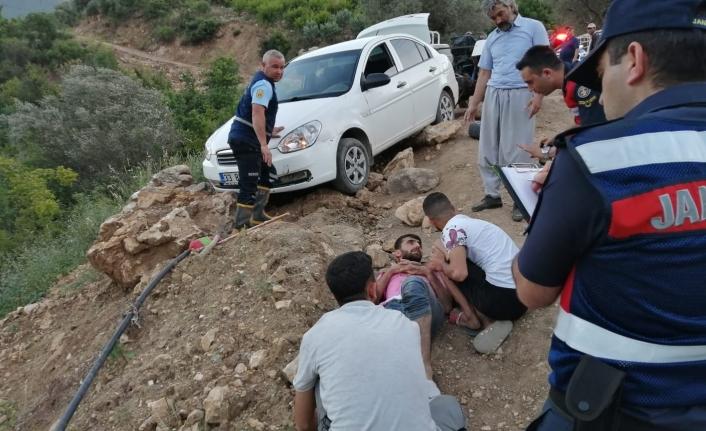 Park Halindeki Araç Hareket Etti 4 Kişi Yaralandı