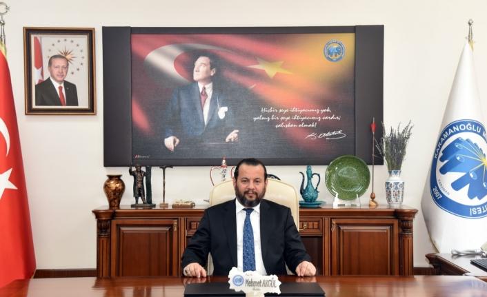 Rektör Akgül`den YKS`ye Girecek Adaylara Başarı Mesajı