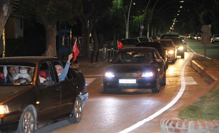 Ayasofya Kararı Karaman'da Konvoyla Kutlandı