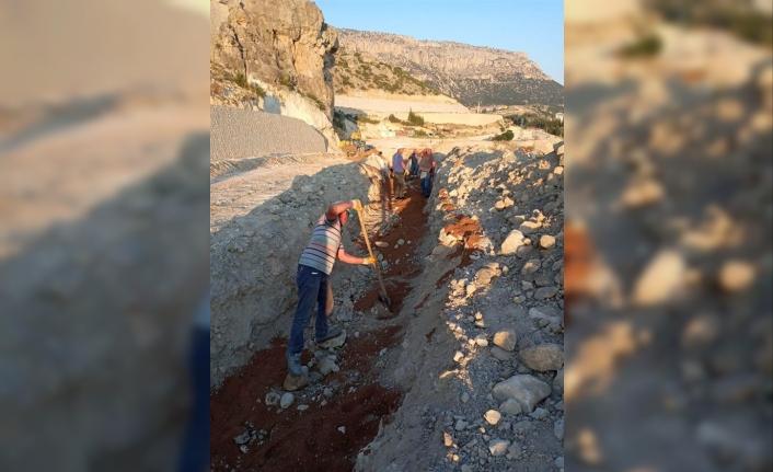 Ermenek'te İçme Suyu Deplase Çalışmaları Devam Ediyor