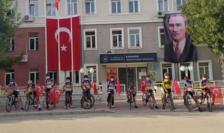 Karaman'da 15 Temmuz Şehitleri İçin Pedal Çevirdiler