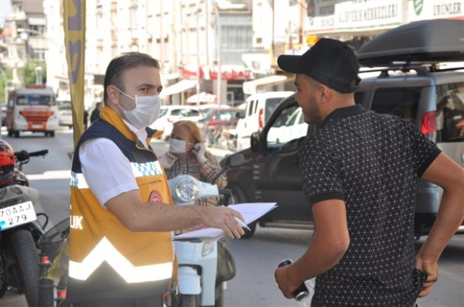Karaman'da Sosyal Mesafe ve Maske Denetimi Yapıldı