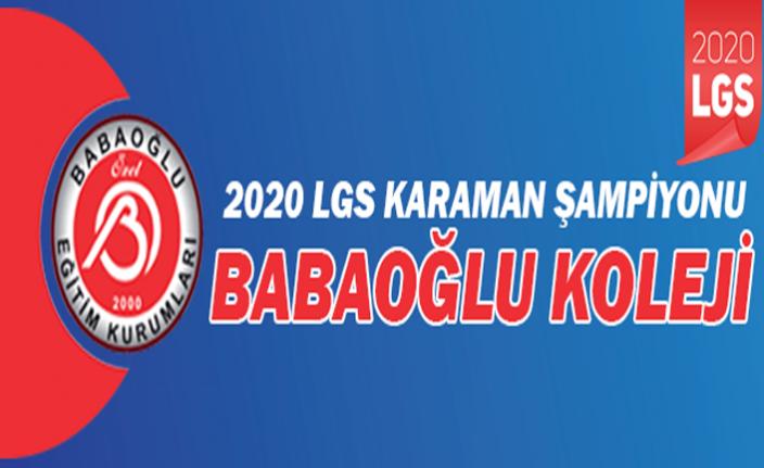 2020 LGS Karaman Şampiyonu Babaoğlu Koleji