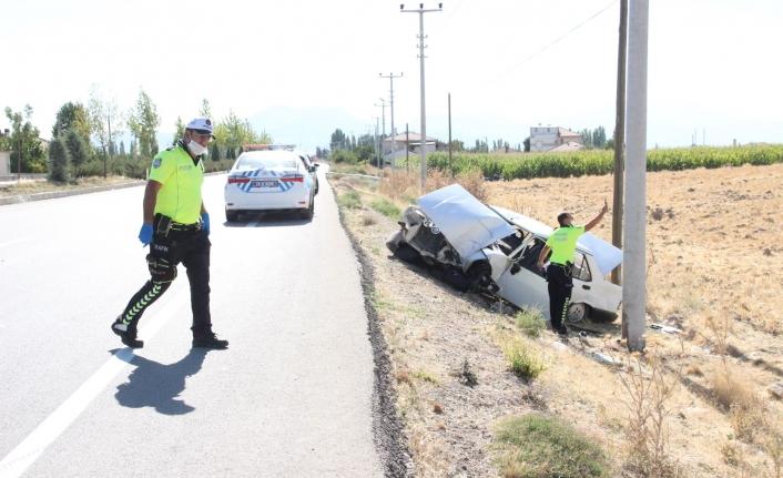 Bucakkışla Köy Yolunda Kaza: 1 Ağır Yaralı