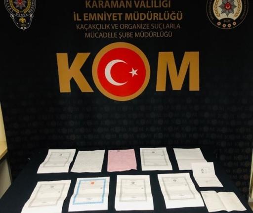 Karaman'da Sahtecilik Operasyonuna 2 Tutuklama