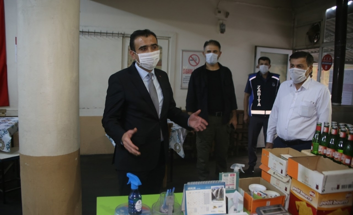 Başkan Kalaycı Temizlik ve Maske Kontrolü Yaptı