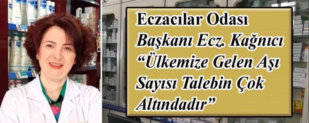 """Eczacılar Odası Başkanı Ecz. Kağnıcı """"Ülkemize Gelen Aşı Sayısı Talebin Çok Altındadır"""""""