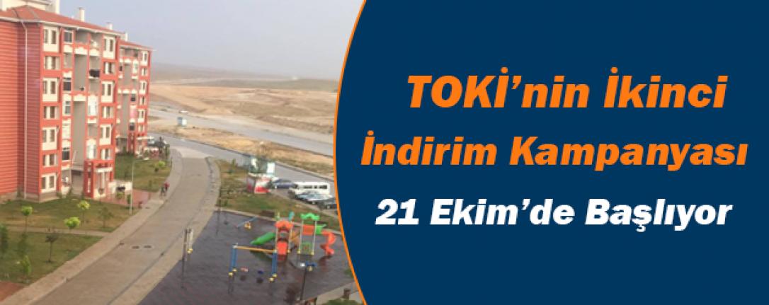 TOKİ'nin İkinci İndirim Kampanyası 21 Ekim'de Başlıyor