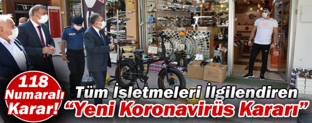 Karaman'da Tüm İşletmeleri İlgilendiren Yeni Koronavirüs Kararı