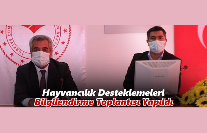 Karaman'da Hayvancılık Desteklemeleri Bilgilendirme Toplantısı Yapıldı
