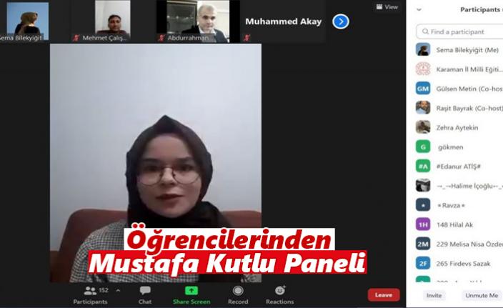 Karaman Anadolu Mektebi Öğrencilerinden Mustafa Kutlu Paneli