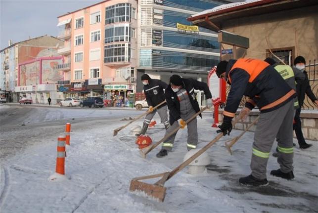 Karaman Belediyesi'nin Kar Mesaisi