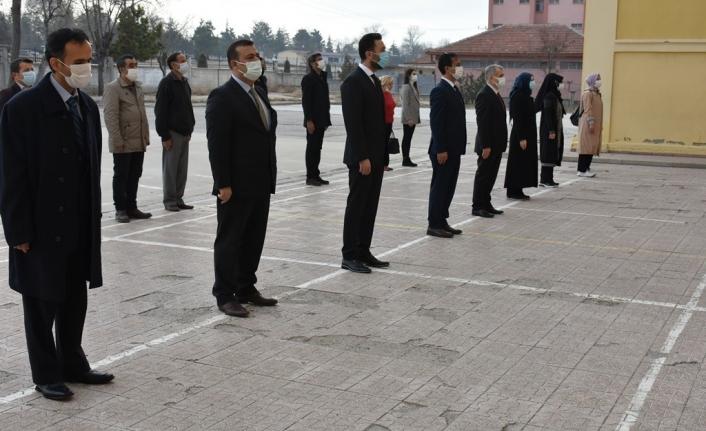 Karaman`da Tüm Okullarda İstiklal Marşı Okundu