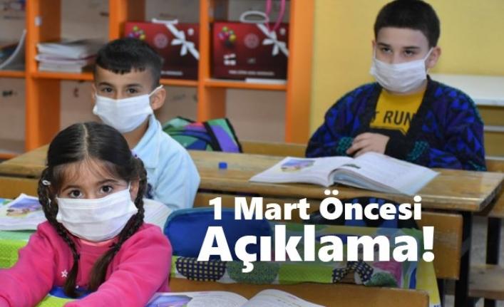 1 Mart'ta Başlayacak Yüz Yüze Eğitim Karaman'da Nasıl Uygulanacak?