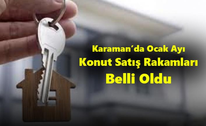 Karaman'da Ocak Ayı Konut Satış Rakamları Belli Oldu