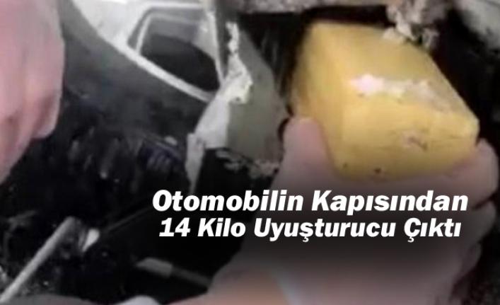 Konya'da Otomobilin Kapısından 14 Kilo Uyuşturucu Çıktı