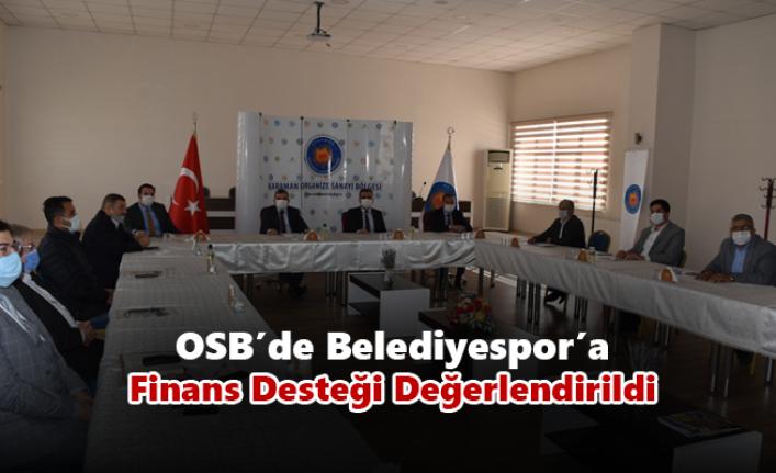 OSB'de Karaman Belediyespor'a Finans Desteği Değerlendirildi