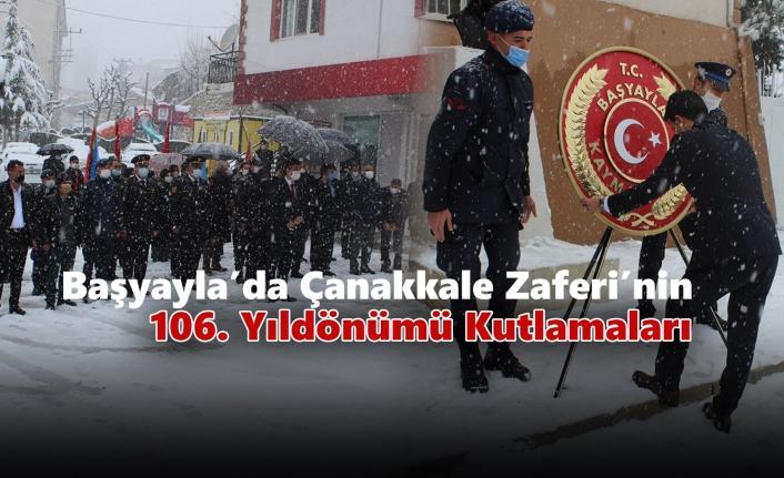 Başyayla'da Çanakkale Zaferi'nin 106. Yıldönümü Kutlamaları