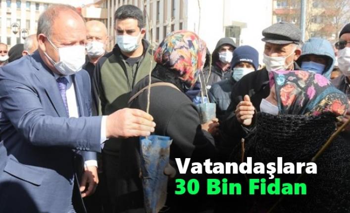 Ereğli Belediyesi`nden Vatandaşlara 30 Bin Fidan