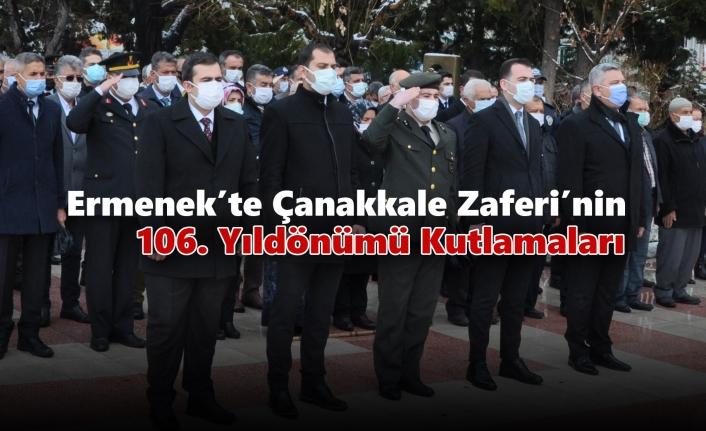 Ermenek'te Çanakkale Zaferi'nin 106. Yıldönümü Kutlamaları