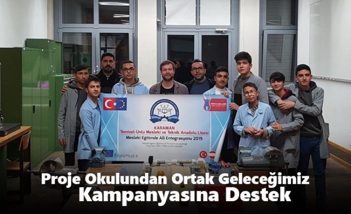 Karaman`ın Proje Okulundan Ortak Geleceğimiz Kampanyasına Destek