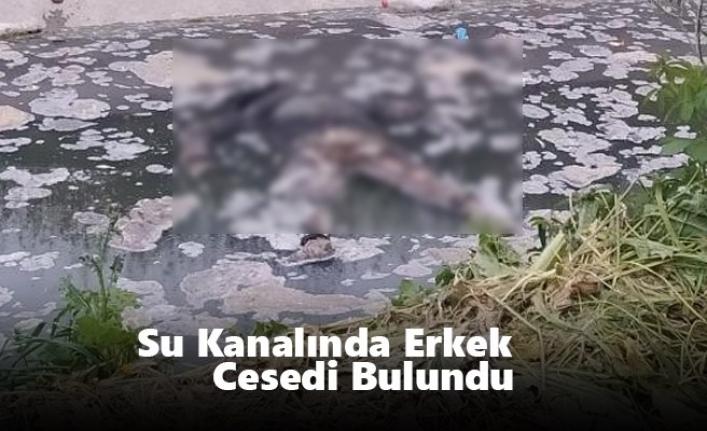 Mersin`de Su Kanalında Erkek Cesedi Bulundu