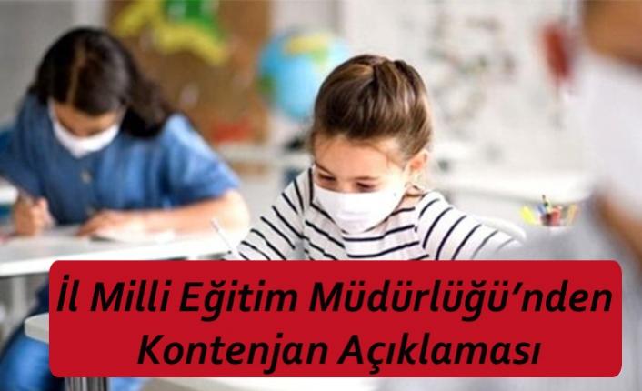 İl Milli Eğitim Müdürlüğü'nden Kontenjan Açıklaması
