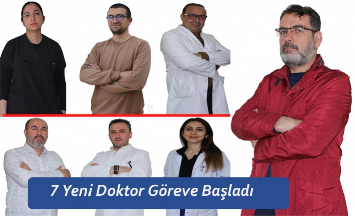 Karaman'a Atanan 7 Yeni Doktor Göreve Başladı