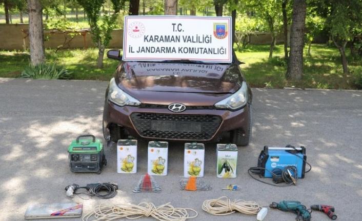 Karaman'da Kiralık Otomobille Hırsızlık Yapan Şahıs Yakalandı