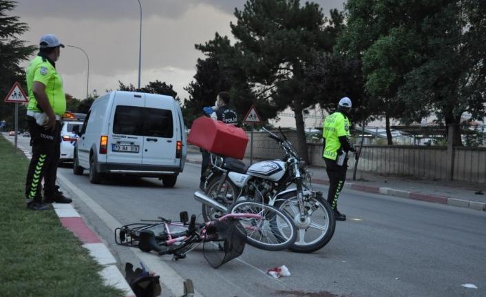 Motor kuryenin Çarptığı Çocuk Ağır Yaralandı