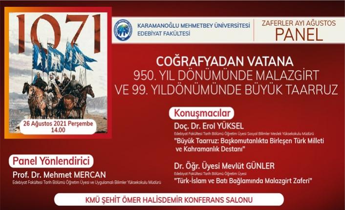 KMÜ'de 30 Ağustos ve Malazgirt Zaferleri Anlatılacak