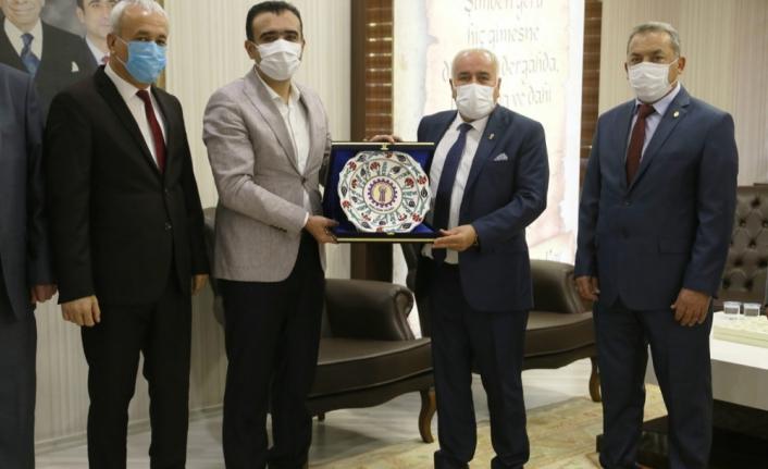 Ahilik Haftası Kutlama Heyeti'nden Başkan Kalaycı'ya Ziyaret