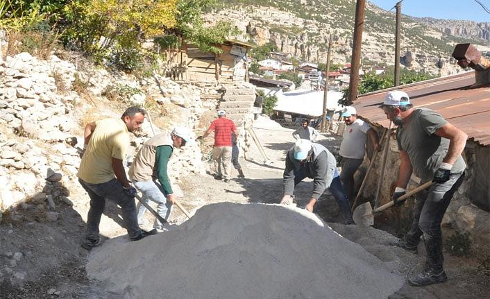Boyacı Sokakta Kilitli Parke Kaplama Çalışmaları Tamamlandı