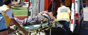 Üç Ayri Kazada 10 Kisi Yaralandi