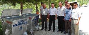 Basyayla Ilçesi Köylerine Çöp Konteynirlari
