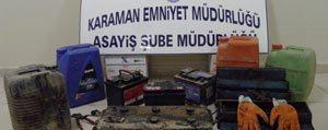 Karaman'da Akü Hirsizlari Yakalandi