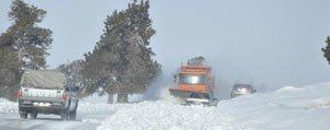 Erdemli-Ayranci Yolu Kar Sebebiyle Ulasima Kapandi...