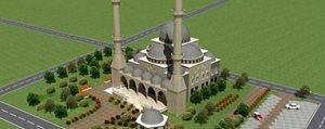 Organizeye Yeni Cami Yapiliyor