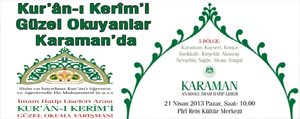 Kur'ân-i Kerîm'i Güzel Okuyanlar Karaman'da