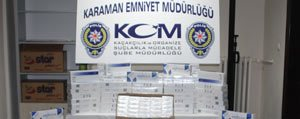 Karaman'da Kaçak Sigara Operasyonu