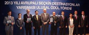 Avrupali Seçkin Destinasyonlar Ödüllerini Aldi