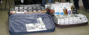 Yolcunun Valizinden 3 Bin 500 Paket Sigara Çikti