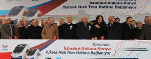 Bakan Elvan, Karaman-Konya Hizli Tren Temelini Atti...