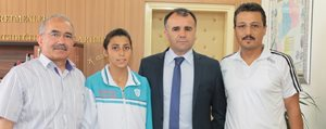 Sampiyon Sporcu, Sultanoglu'nu Ziyaret Etti