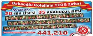 Babaoglu Koleji'nin Tüm Ögrencileri Fen Ve Anadolu...
